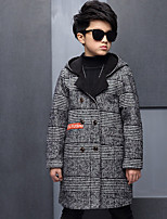 Boys' Solid Trench Coat