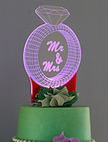 cheap -Cake Topper Color Gradient Plastic Wedding  1 Gift Box