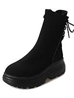 abordables -Mujer Zapatos PU Primavera Otoño Confort Botas Para Negro