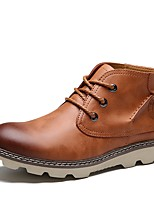cheap -Men's Shoes Leatherette All Season Spring Comfort Fashion Boots Sneakers For Casual Brown Black