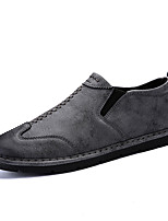 Men's Shoes Rubber Winter Comfort Loafers & Slip-Ons For Outdoor Gray Black