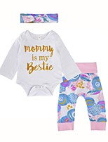 Baby Girl's Daily Daily Floral Clothing Set