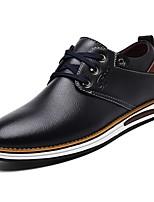 Masculino sapatos Micofibra Sintética PU Courino Couro Ecológico Primavera Outono Conforto Oxfords Para Casual Preto Marron Azul
