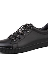 cheap -Men's Shoes Real Leather Cowhide Nappa Leather Winter Comfort Sneakers For Casual Office & Career Black