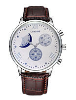 Men's Women's Casual Watch Sport Watch Fashion Watch Chinese Quartz Calendar Chronograph Water Resistant / Water Proof Moon Phase Leather