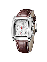 MEGIR Men's Casual Watch Fashion Watch Dress Watch Wrist watch Quartz Calendar / date / day Genuine Leather Band Casual Cool