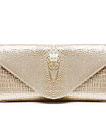 Women Bags All Seasons Cowhide Clutch Zipper for Casual Formal Champagne White Black Wine