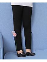 cheap -Girls' Print Pants,Cotton Rayon Winter Fall Casual Black Gray