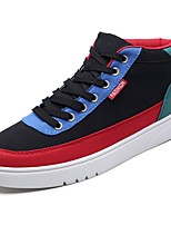 cheap -Men's Shoes Fabric Fall Winter Comfort Sneakers For Casual Black/Red Blue Orange