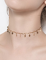 Women's Choker Necklaces Star Alloy Casual Fashion Jewelry For Party Club