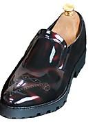 Masculino sapatos Couro Ecológico Primavera Outono Sapatos formais Mocassins e Slip-Ons Para Preto Vermelho Verde