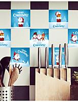 Недорогие -Рождество Наклейки 3D наклейки Декоративные наклейки на стены,Винил Украшение дома Наклейка на стену For Стена