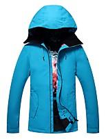 GSOU SNOW Skianzüge Damen Schneegehen Skifahren Ski Freestyle-Snowboard Warm Belüftung Wasserdicht Windundurchlässig Regendicht YKK