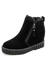 cheap -Women's Shoes Fleece Fall Winter Snow Boots Light Soles Boots Round Toe Booties/Ankle Boots For Casual Gray Black