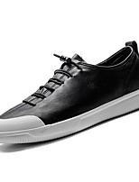 Недорогие -Для мужчин обувь Искусственное волокно Весна Осень Светодиодные подошвы Кеды для Повседневные Черный Серый