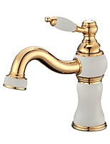 Classic Style Luxury Centerset High Quality with  Ceramic Valve Single Handle One Hole for  Ti-PVD , Bathroom Sink Faucet