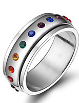Men's Women's Elegant Stainless Steel Circle Jewelry For Wedding Party
