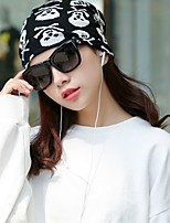 cheap -Women's Cotton Floppy Hat,Casual Print Skulls Spring, Fall, Winter, Summer Printing Black White