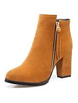 abordables -Mujer Zapatos Materiales Personalizados Otoño Invierno Confort Botas de Moda Botas Dedo Puntiagudo Punta cerrada Mitad de Gemelo Para Boda
