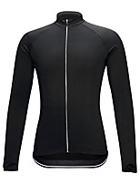 Cycling Jersey Unisex Long Sleeve Bike Compression Clothing Jersey Bike Wear High Elasticity Solid Black