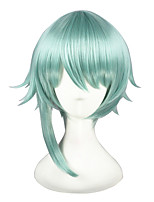 cheap -14inch Short Light Green The kingdom of Sleeping and 100 princes Wig Synthetic Anime Cosplay Wig CS-273D