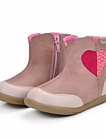 cheap -Girls' Shoes Pigskin Winter Fall Snow Boots Boots Booties/Ankle Boots for Casual Pink
