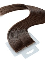 billige -Tape-in Menneskehår Extensions 20pcs / Pack 2,5 g / pc Aske Brun 20 tommer
