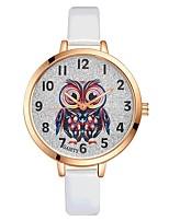 Жен. Наручные часы Китайский Кварцевый Крупный циферблат PU Группа Матовый черный Elegant Цветной Черный Белый Синий Красный Коричневый