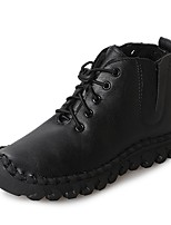 cheap -Women's Shoes PU Winter Combat Boots Boots Round Toe Mid-Calf Boots For Casual Green Black