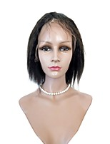 Short Length Remy Hair Lace Front Wigs Kinky Straight Human Hair For Women