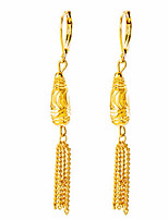 cheap -Women's Drop Earrings Metallic Formal Asian Classic Gift Gold Plated Jewelry For Wedding Party Engagement Ceremony Evening Party