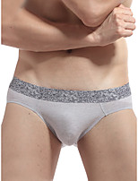 cheap -Men's Solid Boxers Underwear