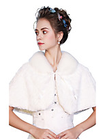 Sleeveless Faux Fur Wedding Party / Evening Women's Wrap With Ribbons Lace-up Capelets