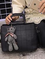 Women Bags PU Tote Zipper for Casual All Season Black Gray Brown
