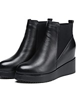 cheap -Women's Shoes Rubber Winter Fashion Boots Boots Null Flat Heel Round Toe Null / For Outdoor Champagne Black
