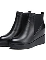 preiswerte -Damen Schuhe Gummi Winter Modische Stiefel Stiefel Null Flacher Absatz Runde Zehe Null / Für Schwarz Champagner