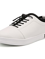 cheap -Men's Shoes PU Fall Winter Comfort Sneakers For Casual Black White
