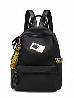 Women Bags Polyester School Bag Zipper for All Seasons Gold Rainbow