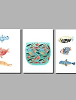 Fish 3-Piece Modern Artwork Wall Art for Room Decoration 20x28inchx3