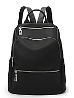 cheap -Women Bags Nylon Backpack Zipper for Casual Office & Career All Season Black