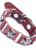 Homme Chaînes & Bracelets Bracelet Chaîne énorme Cuir Alliage Forme de Cercle Bijoux Pour Plein Air