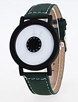 Недорогие -Жен. Модные часы Кварцевый Кожа Группа На каждый день Черный Синий Зеленый Серый Фиолетовый