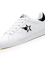 Недорогие -Для мужчин обувь Резина Весна Осень Удобная обувь Кеды Для прогулок Ботинки Ленты Назначение Белый Черный