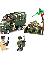 cheap -Building Blocks Truck Military Vehicle Toys Truck Chariot Vehicles Military Non Toxic Kids Boys' 308 Pieces