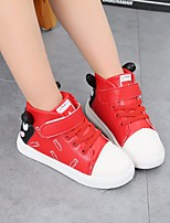 cheap -Girls' Shoes PU Winter Fall Comfort Sneakers Magic Tape For Casual Pink Red Black