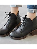 abordables -Mujer Zapatos PU Primavera Otoño Confort Botas de Combate Botas Para Casual Negro Marrón Verde