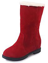 preiswerte -Damen Schuhe PU Frühling Herbst Komfort Stiefel Für Schwarz Gelb Rot