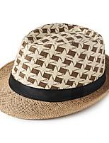 Для мужчин На каждый день Соломенная шляпа,Лето Солома Цветочный Рисунок