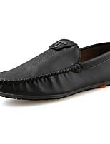 Masculino sapatos Couro Ecológico Primavera Outono Conforto Mocassins e Slip-Ons Para Preto Marron Khaki