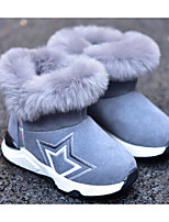 Boys' Shoes Suede Fall Winter Comfort Snow Boots Boots For Casual Khaki Gray Black